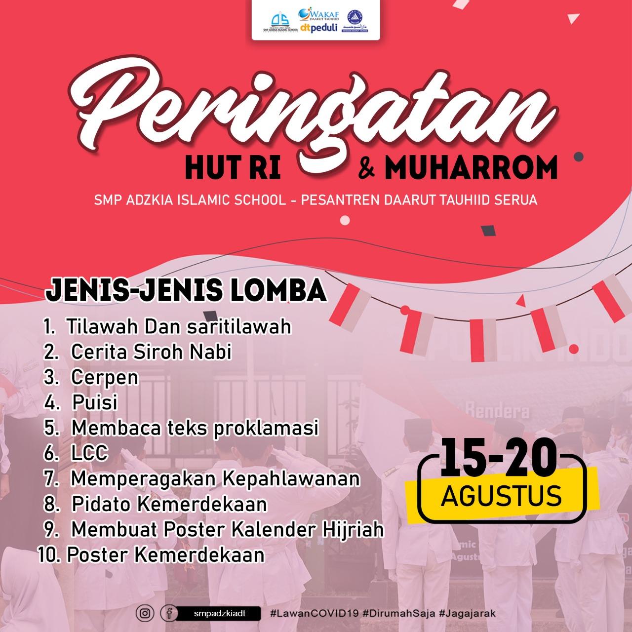 Semarak Menyambut HUT ke-75 Republik Indonesia dan Tahun Baru Islam 1 Muharam 1442 Hijriah